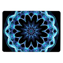 Crystal Star, Abstract Glowing Blue Mandala Samsung Galaxy Tab 10.1  P7500 Flip Case