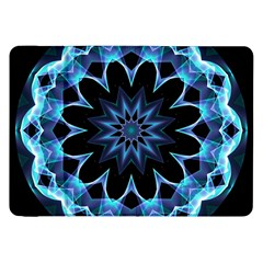 Crystal Star, Abstract Glowing Blue Mandala Samsung Galaxy Tab 8 9  P7300 Flip Case