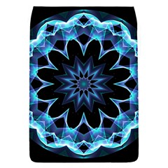 Crystal Star, Abstract Glowing Blue Mandala Removable Flap Cover (Large)