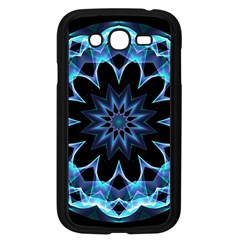 Crystal Star, Abstract Glowing Blue Mandala Samsung Galaxy Grand DUOS I9082 Case (Black)