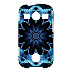 Crystal Star, Abstract Glowing Blue Mandala Samsung Galaxy S7710 Xcover 2 Hardshell Case