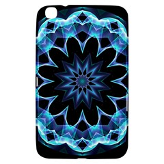Crystal Star, Abstract Glowing Blue Mandala Samsung Galaxy Tab 3 (8 ) T3100 Hardshell Case