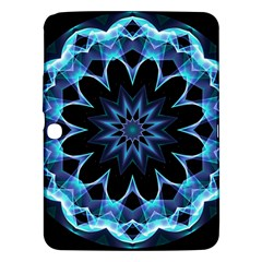 Crystal Star, Abstract Glowing Blue Mandala Samsung Galaxy Tab 3 (10 1 ) P5200 Hardshell Case