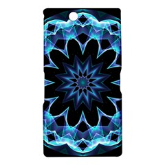 Crystal Star, Abstract Glowing Blue Mandala Sony Xperia Z Ultra (XL39H) Hardshell Case