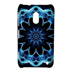 Crystal Star, Abstract Glowing Blue Mandala Nokia Lumia 620 Hardshell Case