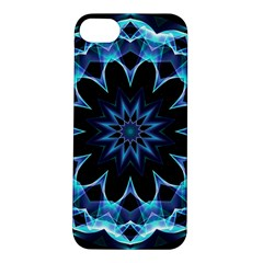 Crystal Star, Abstract Glowing Blue Mandala Apple iPhone 5S Hardshell Case