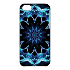 Crystal Star, Abstract Glowing Blue Mandala Apple iPhone 5C Hardshell Case