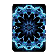 Crystal Star, Abstract Glowing Blue Mandala Samsung Galaxy Tab 2 (10 1 ) P5100 Hardshell Case