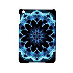 Crystal Star, Abstract Glowing Blue Mandala Apple Ipad Mini 2 Hardshell Case