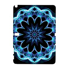 Crystal Star, Abstract Glowing Blue Mandala Samsung Galaxy Note 10 1 (p600) Hardshell Case
