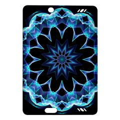 Crystal Star, Abstract Glowing Blue Mandala Kindle Fire HD 7  (2nd Gen) Hardshell Case