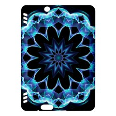 Crystal Star, Abstract Glowing Blue Mandala Kindle Fire HDX 7  Hardshell Case