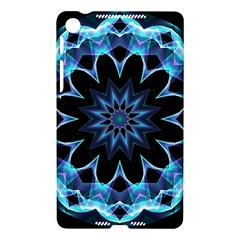 Crystal Star, Abstract Glowing Blue Mandala Google Nexus 7 (2013) Hardshell Case
