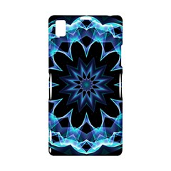 Crystal Star, Abstract Glowing Blue Mandala Sony Xperia Z1 L39H Hardshell Case