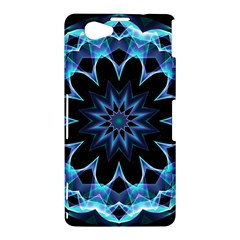 Crystal Star, Abstract Glowing Blue Mandala Sony Xperia Z1 Compact Hardshell Case