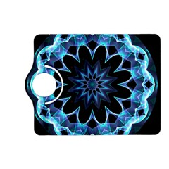 Crystal Star, Abstract Glowing Blue Mandala Kindle Fire HD 7  (2nd Gen) Flip 360 Case