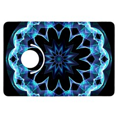 Crystal Star, Abstract Glowing Blue Mandala Kindle Fire HDX 7  Flip 360 Case