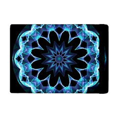 Crystal Star, Abstract Glowing Blue Mandala Apple iPad Mini 2 Flip Case