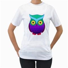 Groovy Owl Women s T-Shirt (White)