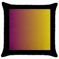Tainted  Black Throw Pillow Case
