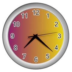 Tainted  Wall Clock (Silver)