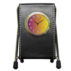Tainted  Stationery Holder Clock