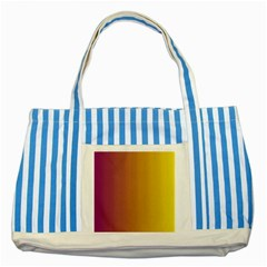 Tainted  Blue Striped Tote Bag