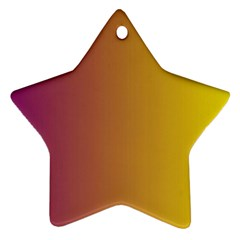 Tainted  Star Ornament (Two Sides)