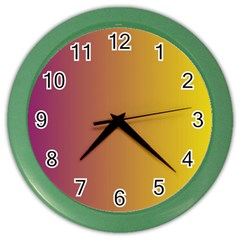 Tainted  Wall Clock (Color)
