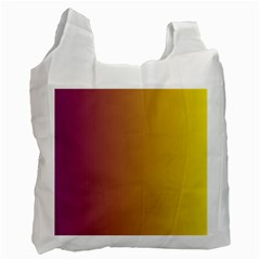 Tainted  White Reusable Bag (Two Sides)