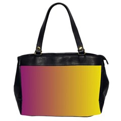 Tainted  Oversize Office Handbag (two Sides)