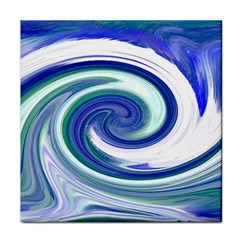 Abstract Waves Ceramic Tile