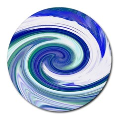 Abstract Waves 8  Mouse Pad (Round)
