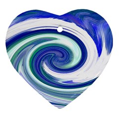 Abstract Waves Heart Ornament