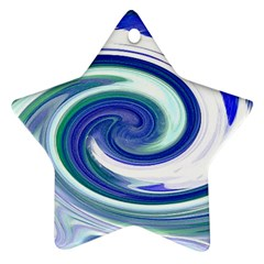 Abstract Waves Star Ornament