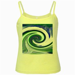 Abstract Waves Yellow Spaghetti Tank