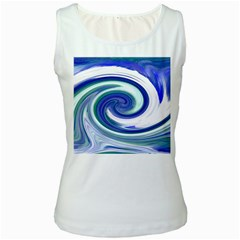 Abstract Waves Women s Tank Top (white)
