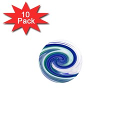 Abstract Waves 1  Mini Button Magnet (10 Pack)