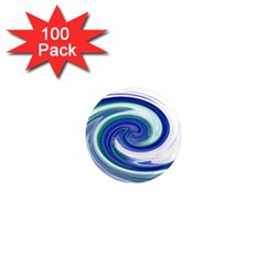 Abstract Waves 1  Mini Button Magnet (100 pack)