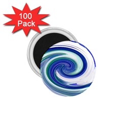 Abstract Waves 1 75  Button Magnet (100 Pack)