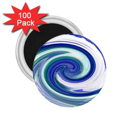 Abstract Waves 2 25  Button Magnet (100 Pack)