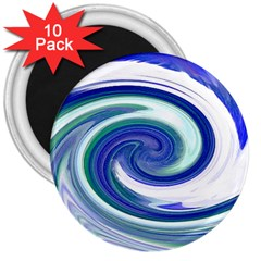 Abstract Waves 3  Button Magnet (10 pack)