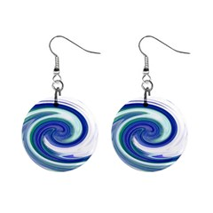 Abstract Waves Mini Button Earrings