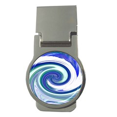 Abstract Waves Money Clip (Round)