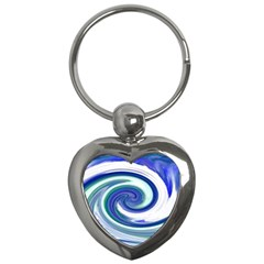 Abstract Waves Key Chain (Heart)