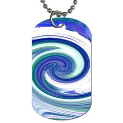 Abstract Waves Dog Tag (One Sided)