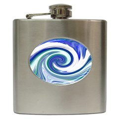Abstract Waves Hip Flask