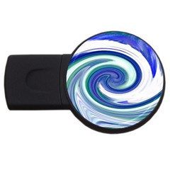 Abstract Waves 2gb Usb Flash Drive (round)