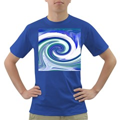 Abstract Waves Men s T-shirt (Colored)