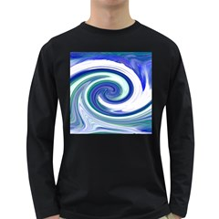 Abstract Waves Men s Long Sleeve T-shirt (Dark Colored)